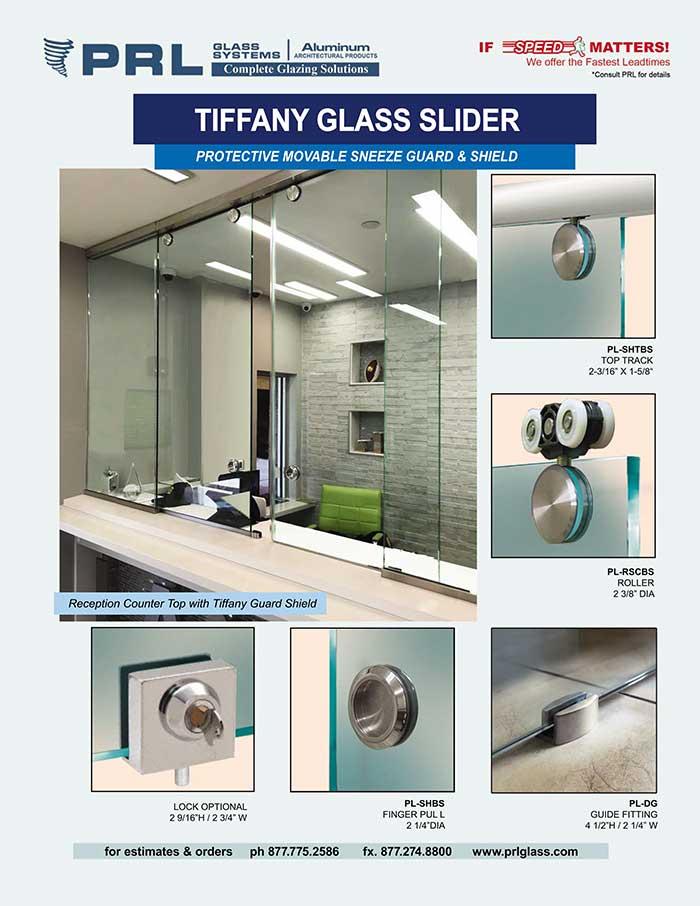 sliding glass reception windows