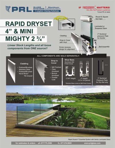 small dry set handrail base