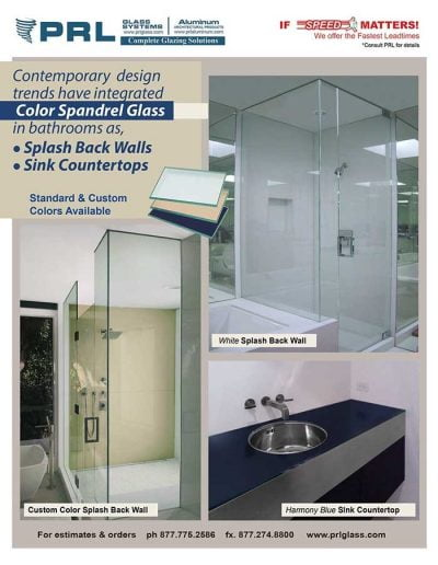 Spandrel Glass in Shower Enclosures