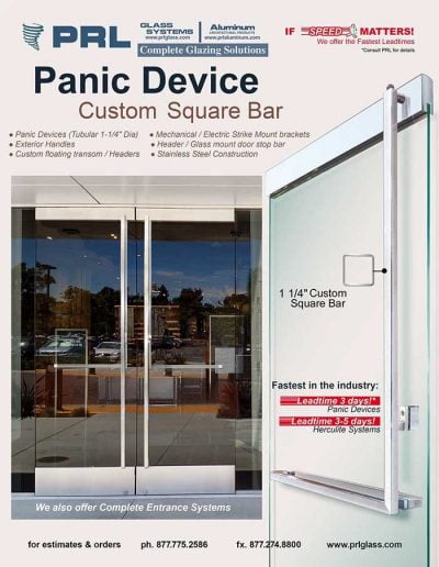Square Panic Bar Device