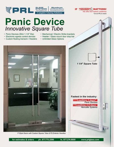 Square Tube Panic Device