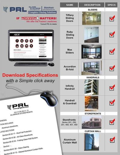 Storefront and Glass Door Specifications