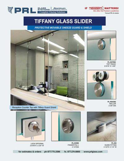 tiffany glass slider