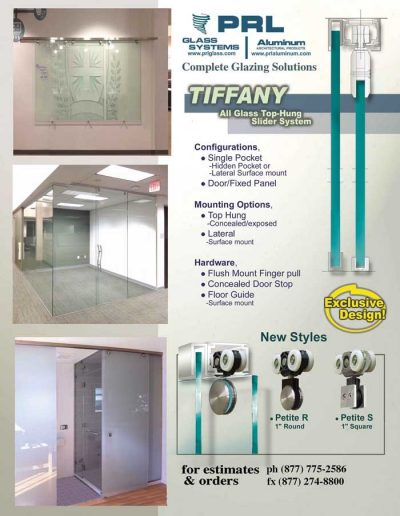 Tiffany Interior Glass Sliding Door System