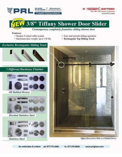 Tiffany Shower Door Slider