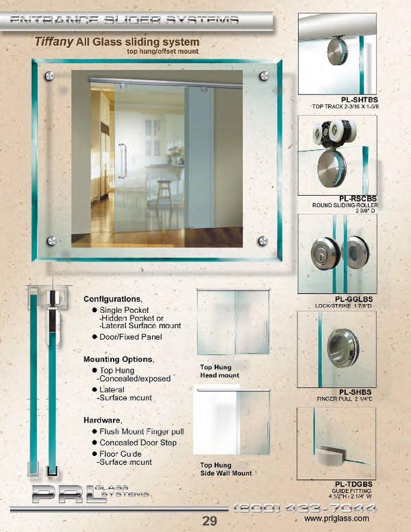 Top Hung Interior Sliding Door System - Tiffany System